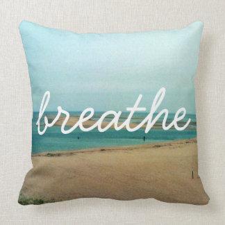 Breathe, throw pillow