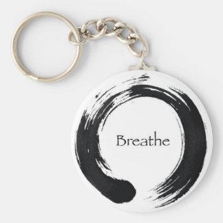 Breathe with Enso symbol Keychain