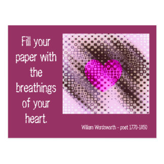 Breathings of The Heart Quote Postcard