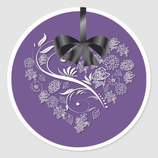 Breathless Wedding Envelope Seals - plum