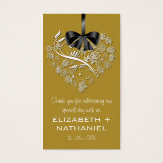 Breathless Wedding Favor Biz Favor Tag-gold Business Card