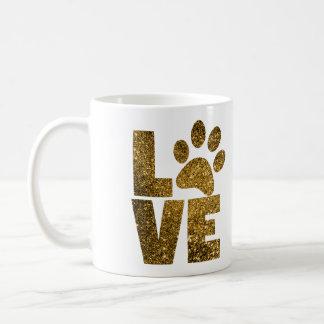 Breaths for Pets Gold Paw Print Mug
