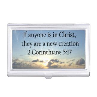BREATHTAKING 2 CORINTHIANS 5:17 OCEAN SUNRISE BUSINESS CARD HOLDER