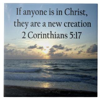 BREATHTAKING 2 CORINTHIANS 5:17 OCEAN SUNRISE TILE