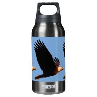 Breathtaking Bald Eagle in Winter Sunset Flight Insulated Water Bottle
