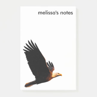 Breathtaking Bald Eagle in Winter Sunset Flight Post-it Notes