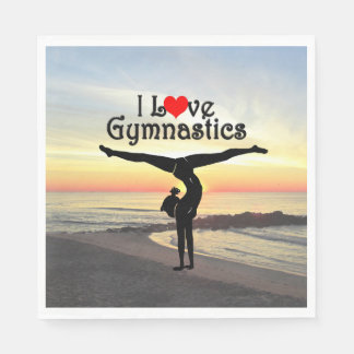BREATHTAKING I LOVE GYMNASTICS PAPER NAPKINS