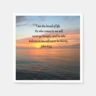 BREATHTAKING JOHN 6:35 SUNRISE DESIGN DISPOSABLE NAPKIN