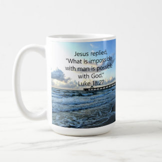 BREATHTAKING LUKE 18:27 OCEAN PHOTO DESIGN COFFEE MUG