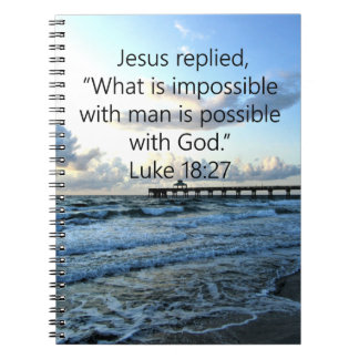 BREATHTAKING LUKE 18:27 OCEAN PHOTO DESIGN NOTEBOOKS
