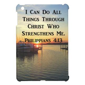 BREATHTAKING PHILIPPIANS 4:13 SCRIPTURE iPad MINI COVERS