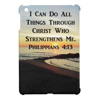 BREATHTAKING PHILIPPIANS 4:13 SCRIPTURE VERSE COVER FOR THE iPad MINI