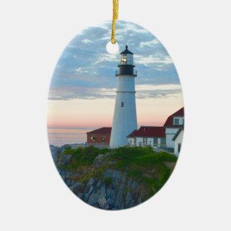 Breathtaking Portland Lighthouse Ceramic Ornament
