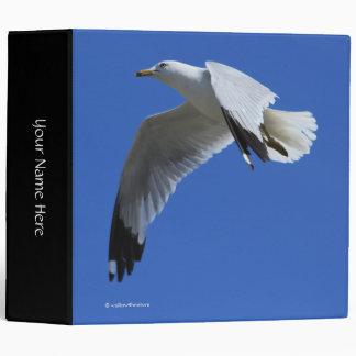 Breathtaking Ring-Billed Gull in Flight Vinyl Binder