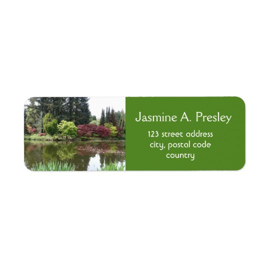 Breathtaking spring garden address return address label