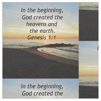 BREATHTAKING SUNRISE ON THE OCEAN GENESIS 1:1 FABRIC
