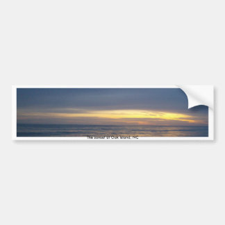 Breathtaking Sunset at Oak Island Bumper Sticker