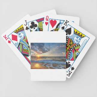 Breathtaking sunset bicycle playing cards