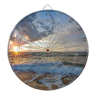 Breathtaking sunset dartboard