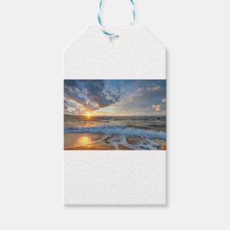 Breathtaking sunset gift tags