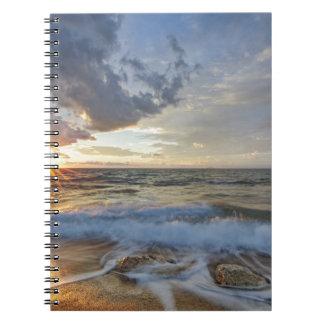 Breathtaking sunset notebook