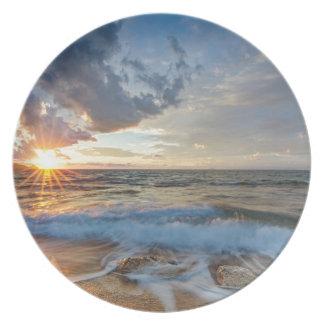 Breathtaking sunset plate