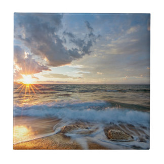 Breathtaking sunset tile