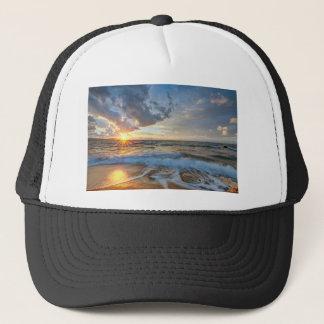 Breathtaking sunset trucker hat