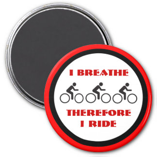 breating and biking 3 inch round magnet