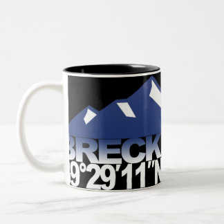 Breck Mountain GPS Mug Blue
