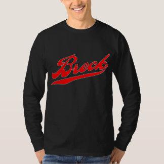 Breck Red Baseball Logo For Dark T-Shirt