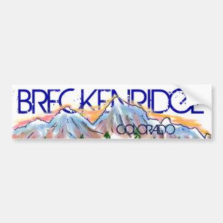 Breckenridge Colorado artistic mountain sticker