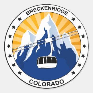 Breckenridge Colorado Classic Round Sticker