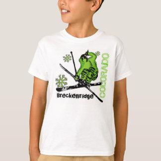 Breckenridge Colorado green skier boys tee