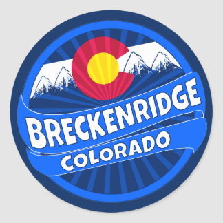 Breckenridge Colorado mountain burst sticker