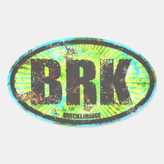 Breckenridge Colorado Oval Oval Sticker