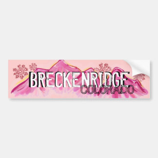 Breckenridge Colorado pink theme bumpersticker Bumper Sticker