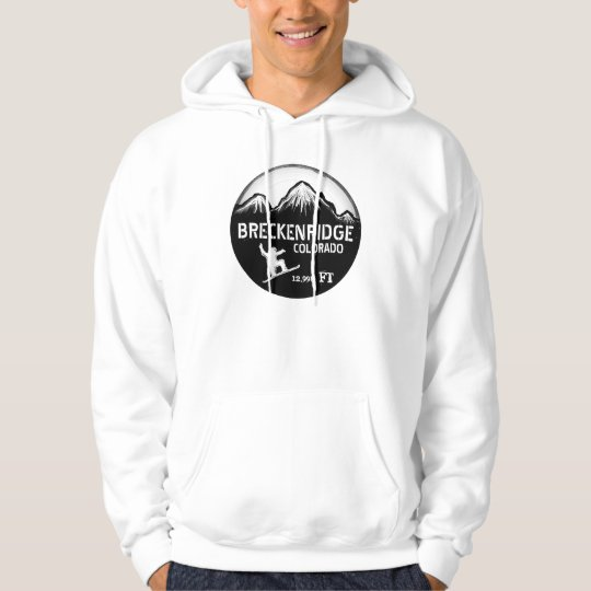 Breckenridge Colorado simple snowboard art hoody