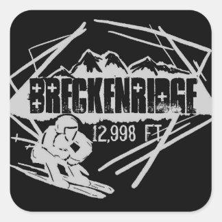 Breckenridge Colorado skiier stickers