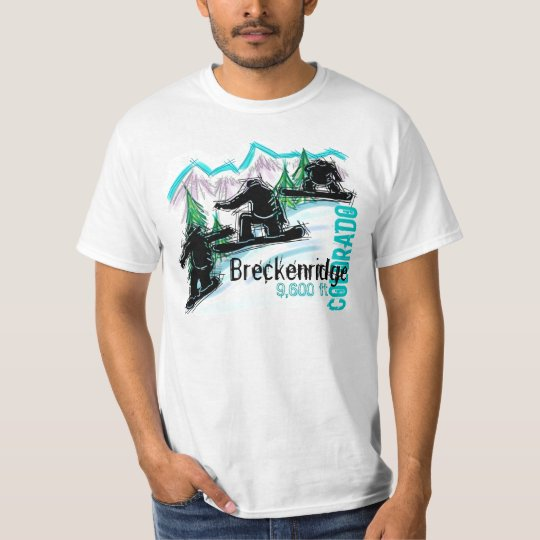 Breckenridge Colorado snowboard value tee
