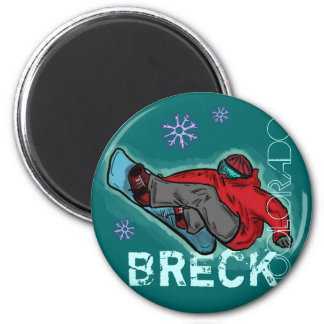 Breckenridge Colorado snowboarder shred magnet