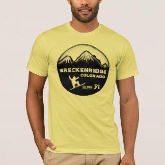 Breckenridge Colorado yellow snowboard art tee