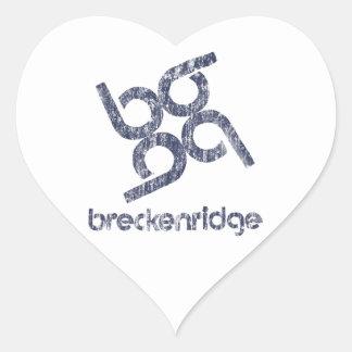 Breckenridge Heart Sticker