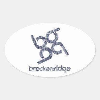 Breckenridge Oval Sticker