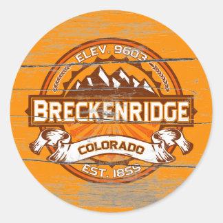 Breckenridge Tangerine Old Paint Classic Round Sticker
