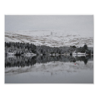 Brecon Beacons in the Snow Poster