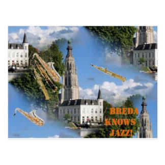 Breda Grote Kerk Jazz Postcard