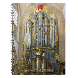 Breda pipe organ notebooks