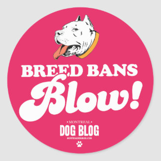 Breed Bans Blow Sticker (fuchsia)