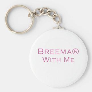 Breema With Me Basic Round Button Keychain